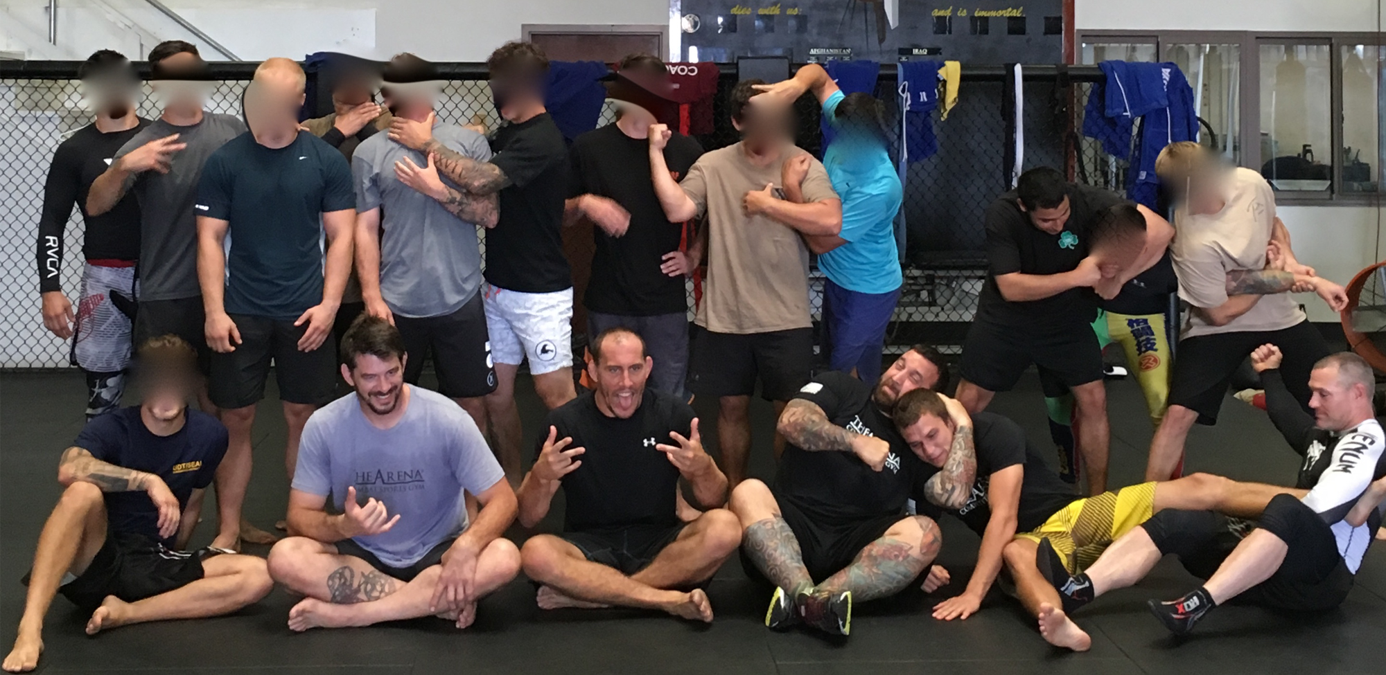 Group shot of people in training class